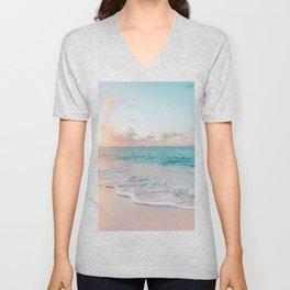 Beautiful tropical turquoise sandy beach photo Unisex V-Neck