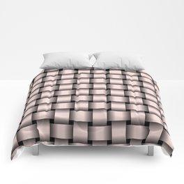 Pastel Pink Weave Comforters