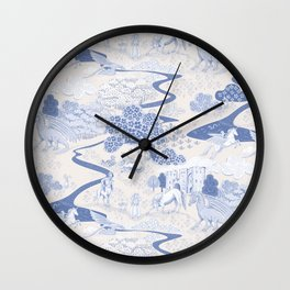 Mythical Creatures Toile Wall Clock