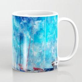 July Lines In Watercolors Coffee Mug