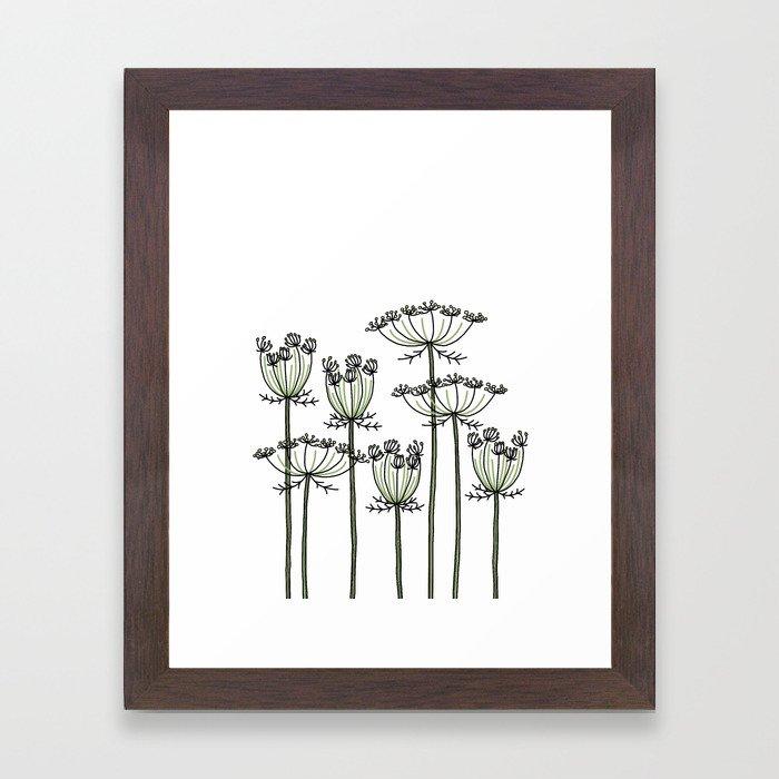 wild carrots Framed Art Print
