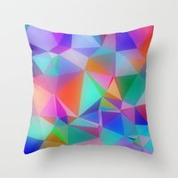 stained glass Throw Pillows featuring Stained Glass by Stuff.