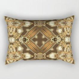 Golden Mali | Fractal Ruffles Rectangular Pillow