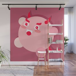 The cutest evil demon ever! Wall Mural