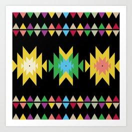 Folk black Art Print