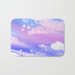 Ankaa I - Abstract Costellation Painting - Pastel Foam. Bath Mat