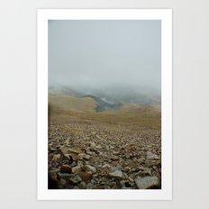 Snowy day on Pikes Peak Art Print