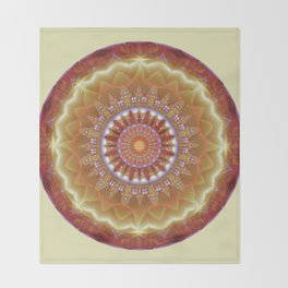 Mandalas from the Heart of Peace 12 Throw Blanket