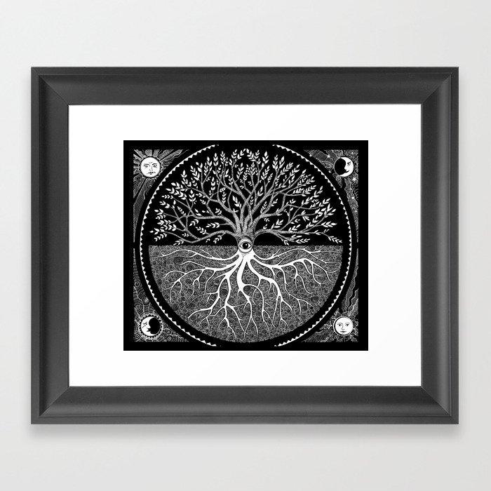 Druid Tree of Life Gerahmter Kunstdruck