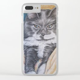 Cat: Babs Clear iPhone Case