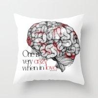 freud Throw Pillows featuring Sigmund Freud by MuDesignbyMugeBaris