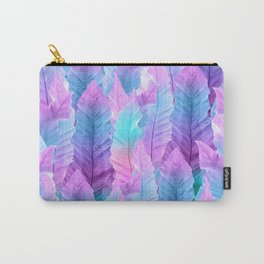 Mermaid Colored Leaves Vibes #1 #decor #art #society6 Carry-All Pouch