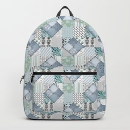 The bright blue patchwork Backpack