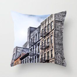 Why Not?, Lower East Side, New York City Throw Pillow