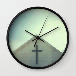 Church + Sky Wall Clock