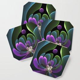 Decorative Flower Fractal, Floral Fantasy Coaster
