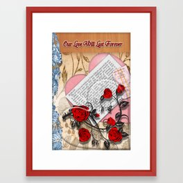 Our Love will last forever Framed Art Print
