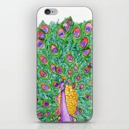 Peekin' Peacock iPhone Skin
