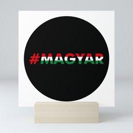 Hashtag Magyar, circle, black Mini Art Print