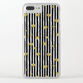 Gold and Black Pattern I Clear iPhone Case