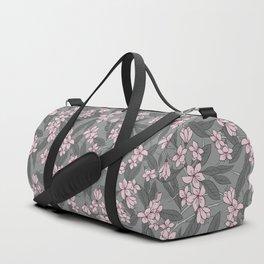 Sakura Branch Pattern - Ballet Slipper + Neutral Grey Duffle Bag