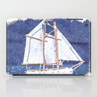 sailboat iPad Cases featuring Sailboat by Michael P. Moriarty