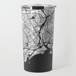 Bridgeport Map Gray Travel Mug