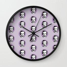 Edgar Allan Poe-ka Dots Wall Clock