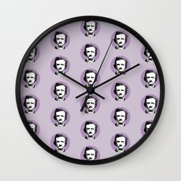 Edgar Allan Poe-ka Dots Wall Clock