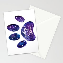 Adopt don't shop galaxy paw - purple Stationery Cards
