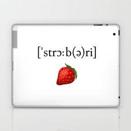 Strawberry Phonetic Laptop & iPad Skin