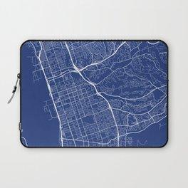 Chula Vista Map, USA - Blue Laptop Sleeve