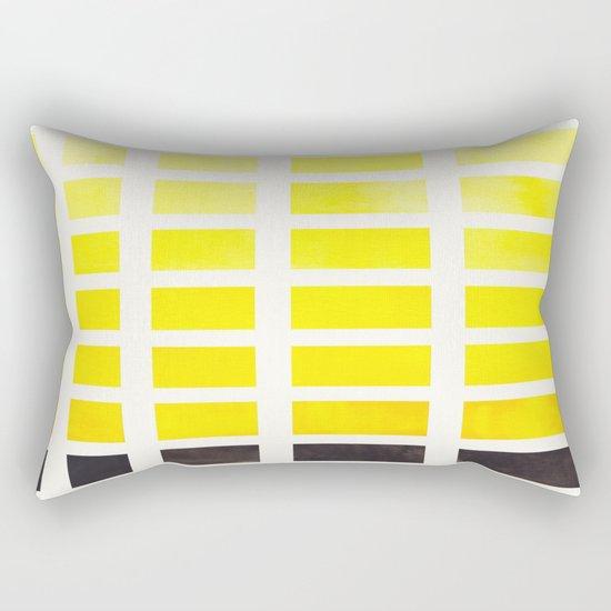Watercolor Geometric Square Yellow Pattern Mid Century Modern Minimalist Art Rectangular Pillow ...