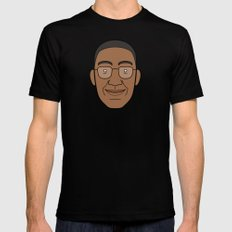 Faces of Breaking Bad: Gustavo Fring Mens Fitted Tee Black MEDIUM