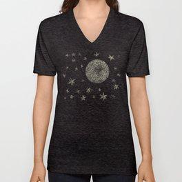 Moon and Stars Unisex V-Neck