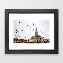 Stupa of Bodnath Framed Art Print