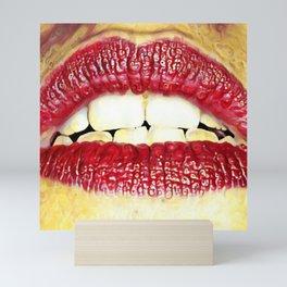Red lips Mini Art Print
