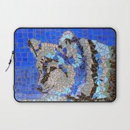Wolf Mosaic Laptop Sleeve