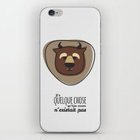 beauty and the beast iPhone & iPod Skins featuring Beauty and the Beast by Jane Mathieu