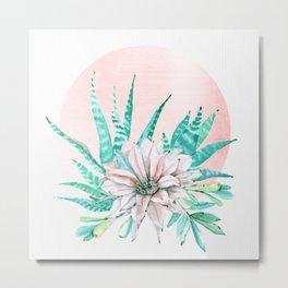 Desert Cactus Succulent Metal Print