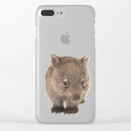 An adorable Australian wombat Clear iPhone Case