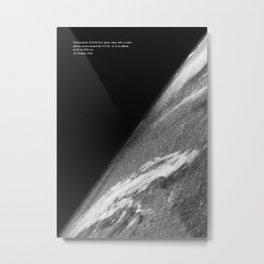 Earth orbit view ISS Metal Print