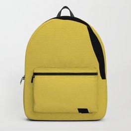 LETTER V (BLACK-GOLD) Backpack