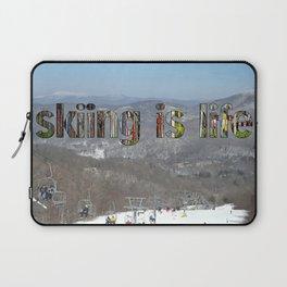 skiing is life Laptop Sleeve