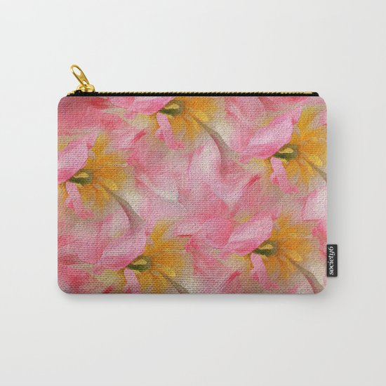 Fancy Painted Tulips Carry-All Pouch