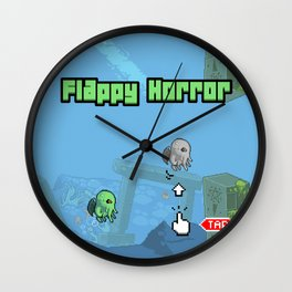 Flappy Horror - Cthulhu! Wall Clock