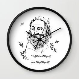I Celebrate Myself Wall Clock