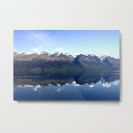 Lake Wakatipu Reflection Metal Print