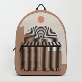 Abstraction_NEW_SUN_ARCHITECTURE_BOHO_POP_ART_0118 Backpack