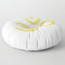 Om (Aum, ॐ) Symbol - Gold Floor Pillow